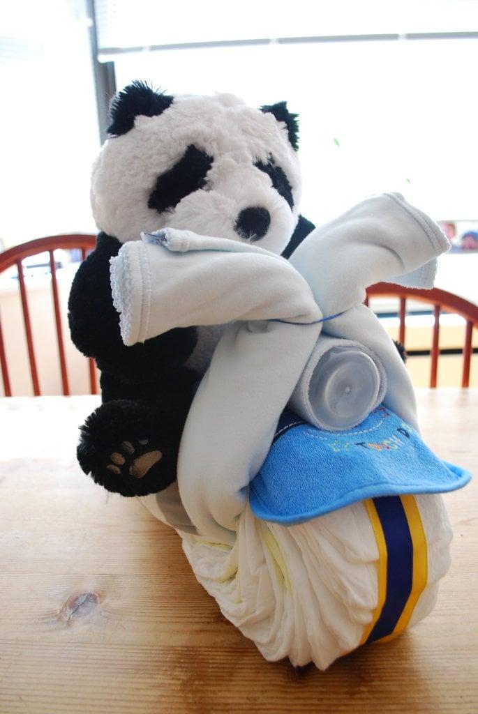 Panda On A Chopper Baby Shower Diaper Cakes Popsugar
