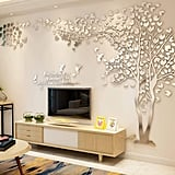 3D Silver Tree Wall Decals