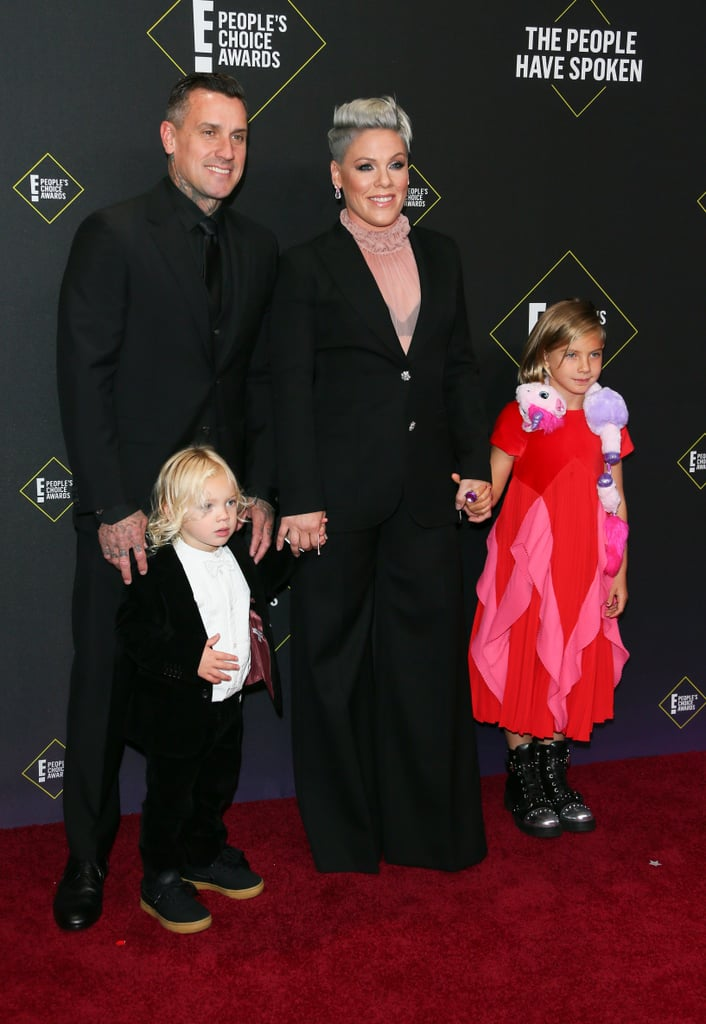 Pink and Her Kids at the 2019 People's Choice Awards Photos