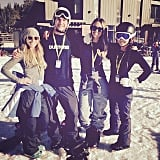 Jessica Alba spent the day on the slopes.