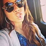 Christina Milian made a goofy face. Source: Instagram user christinamilian