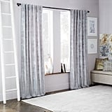 west elm Crosshatch Velvet Curtain — Feather Gray ($99)