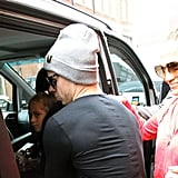 Jennifer Lopez and Casper Smart loaded Max and Emme Anthony into the car.