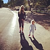 Jessica Simpson and Maxwell Johnson chased their shadows around their neighborhood. Source: Instagram user jessicasimpson1111