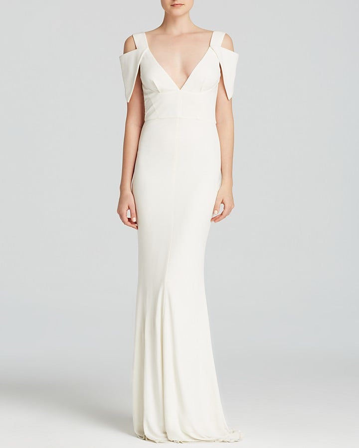 ABS by Allen Schwartz Gown ($425) | Unique Wedding Dresses ...