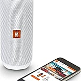 JBL White Flip4 Bluetooth Speaker