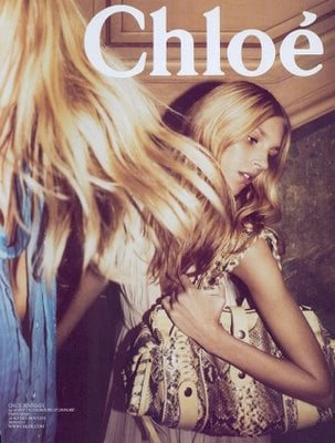 Julia Stegner and Anja Rubik for Chloe ad campaign-2005