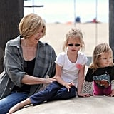 Jennifer Garner Gets Glam While Her Girls Hit the Park With Grandma