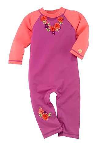 Because infant skin is especially sensitive, Coolibar's Beach Romper ($40) offers full-coverage UPF protection, and it comes in four fun prints and colors for baby boys and girls.