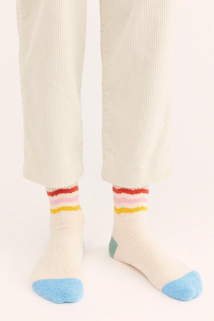 Rainbow Stripe Grip Socks