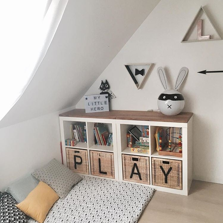 Beautiful Ikea Kallax Shelves In Kids Rooms
