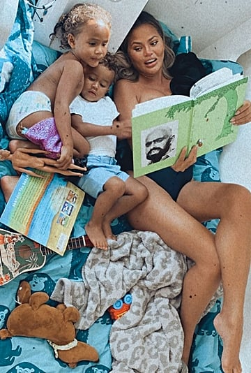 Chrissy Teigen Reading The Giving Tree to Luna and Miles
