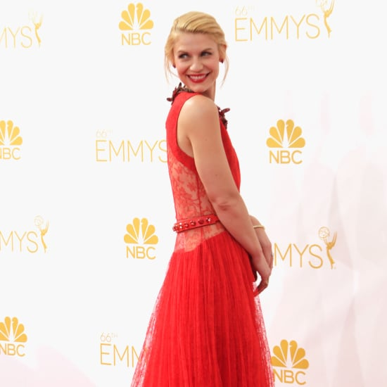 Claire Dane at the 2014 Emmy Awards in a Red Givenchy Dress
