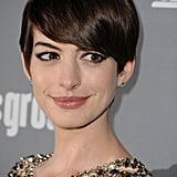 At the Costume Designers Guild Awards, Anne tried out a deep side part, one of this season's biggest trends.