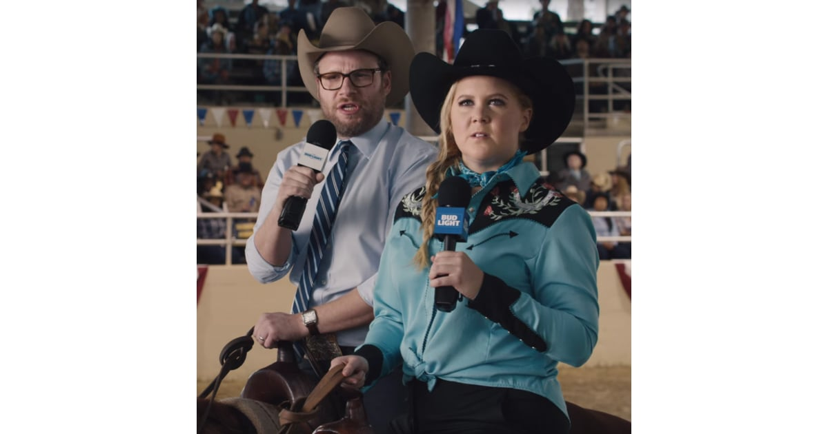 Amy schumer and seth rogens bud light super bowl commercial amy schumer and seth rogens bud light super bowl commercial popsugar celebrity aloadofball Choice Image
