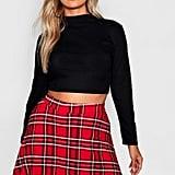 Boohoo Plus Tartan Skater Skirt