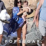 Jenna Dewan walked with Everly on the beach.