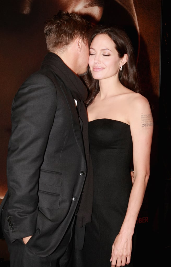 Brad and Angelina got close at the NYC premiere of Changeling in October 2008.
