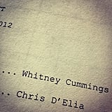 Chris D'Elia gave us a peek at a script for the new season of Whitney. Source: Instagram user chrisdelia