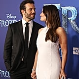 Aaron Lohr and Idina Menzel at the Frozen 2 Premiere in Los Angeles