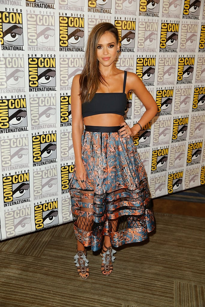On Saturday, Jessica Alba bared her midriff at the Sin City: A Dame to Kill For event.
