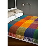 Avoca Heavy Herringbone Check Wool Throw