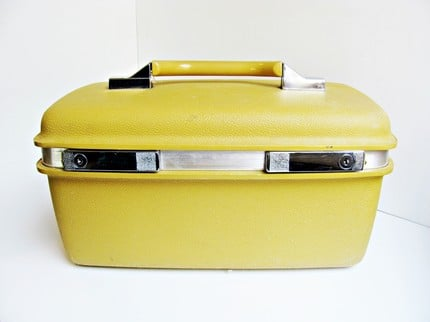 Vintage Yellow Train Case ($32)