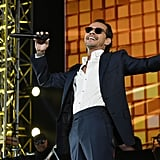 Marc Anthony performing some of his hit songs.