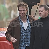 Robert Pattinson made his way to the set of The Today Show in NYC.