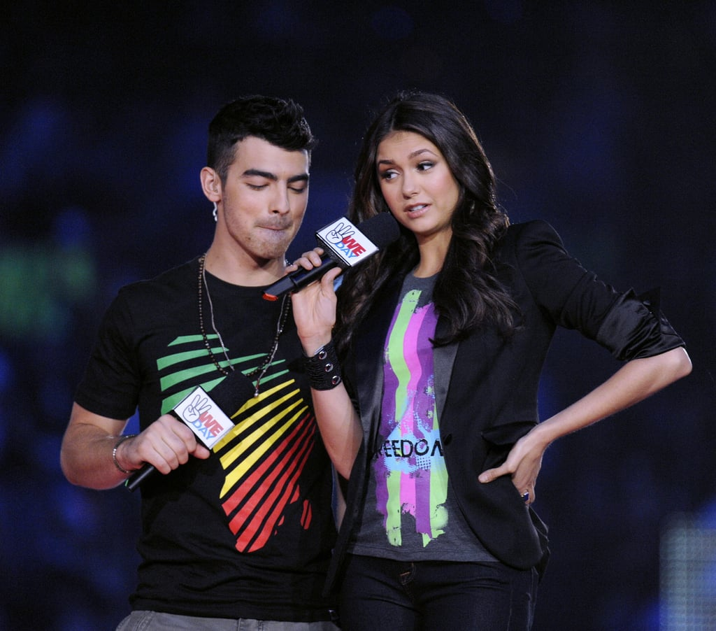 Nina Dobrev got silly with her cohost Joe Jonas.