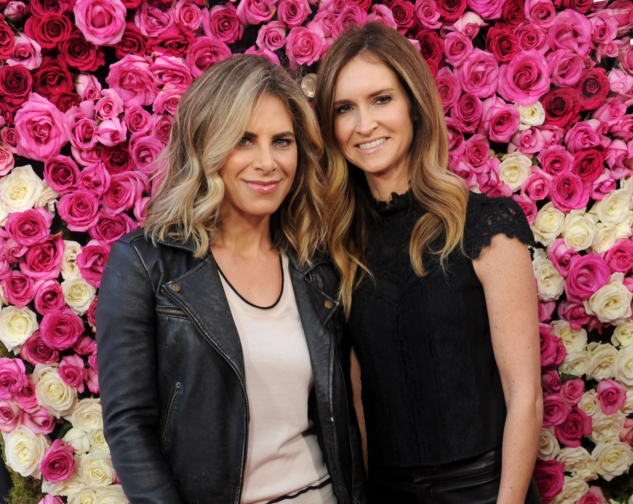 HOLLYWOOD, CA - APRIL 13:  Jillian Michaels and Heidi Rhoades arrive at the Open Roads World Premiere Of