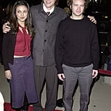 They posed with their That '70s Show costar Danny Masterson at the December 2000 premiere of Traffic in LA.  Source: Getty / SGranitz