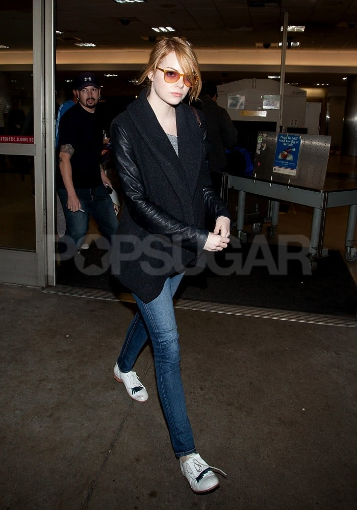 Emma Stone flew into LA after an extended stint in NYC.