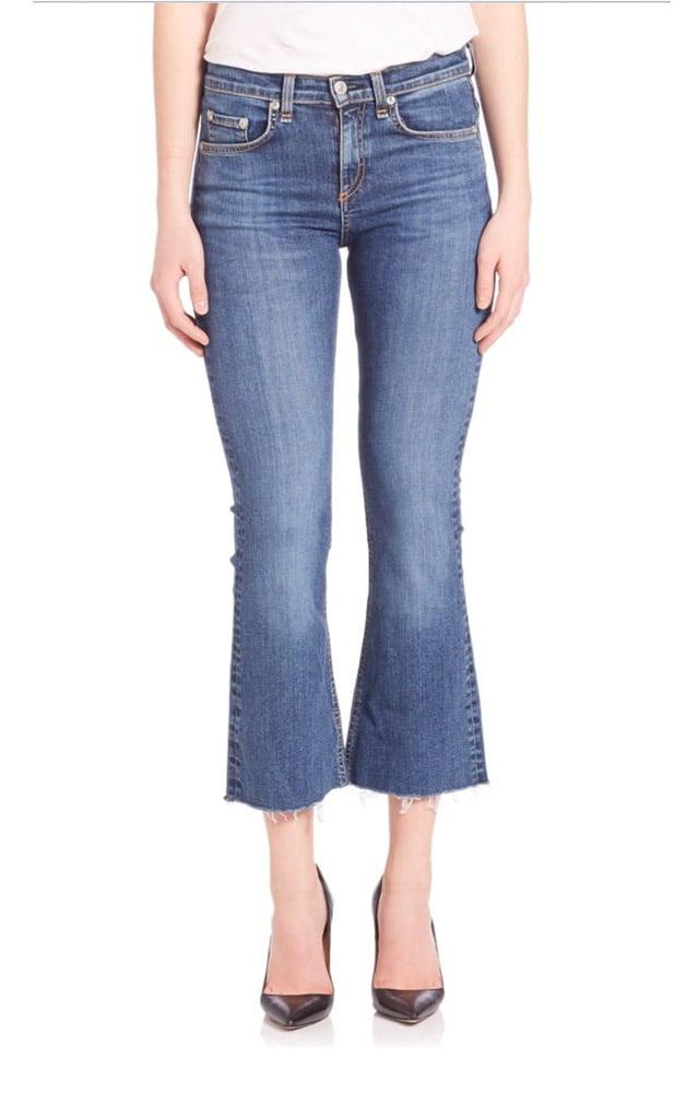 Rag and Bone Cropped Raw-Hem Flare Jeans ($195)