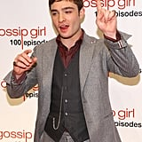 Ed Westwick posed on the red carpet.