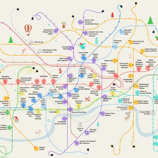 London Christmas Shopping and Events Map