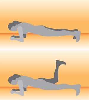 Four Plank Exercises For Abs