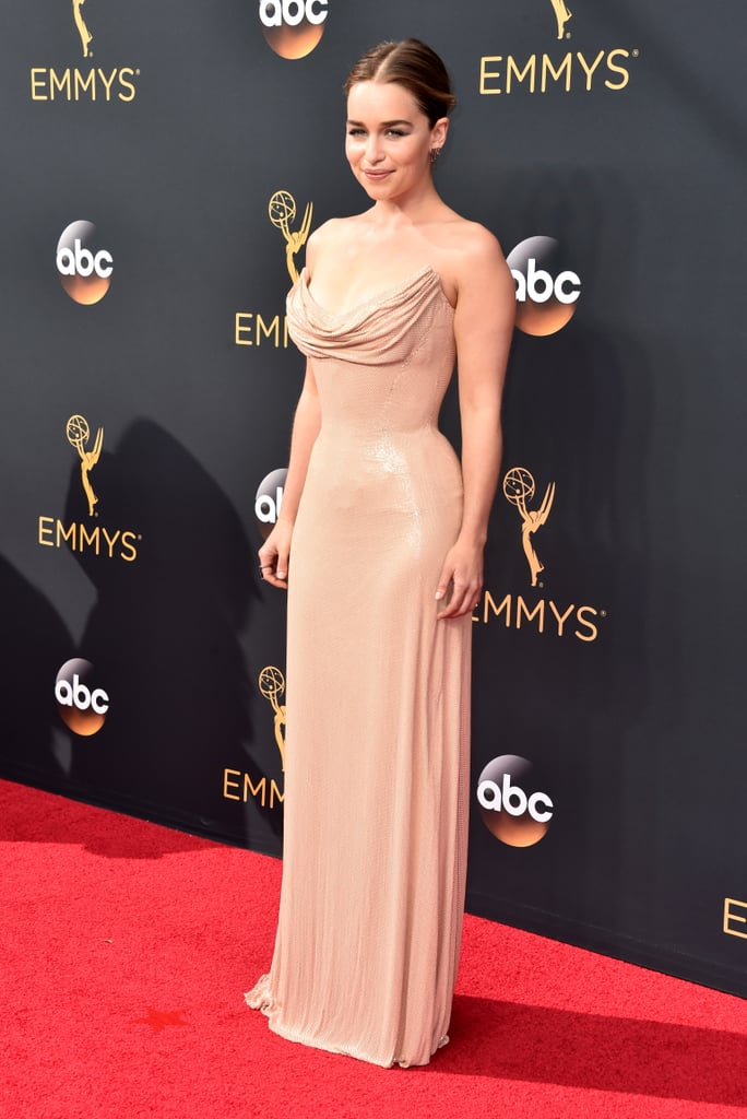 Image result for Emilia Clarke in Atelier Versace - Emmy Awards 2016