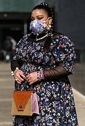 10 Street Style Outfits With Face Masks at Fashion Week
