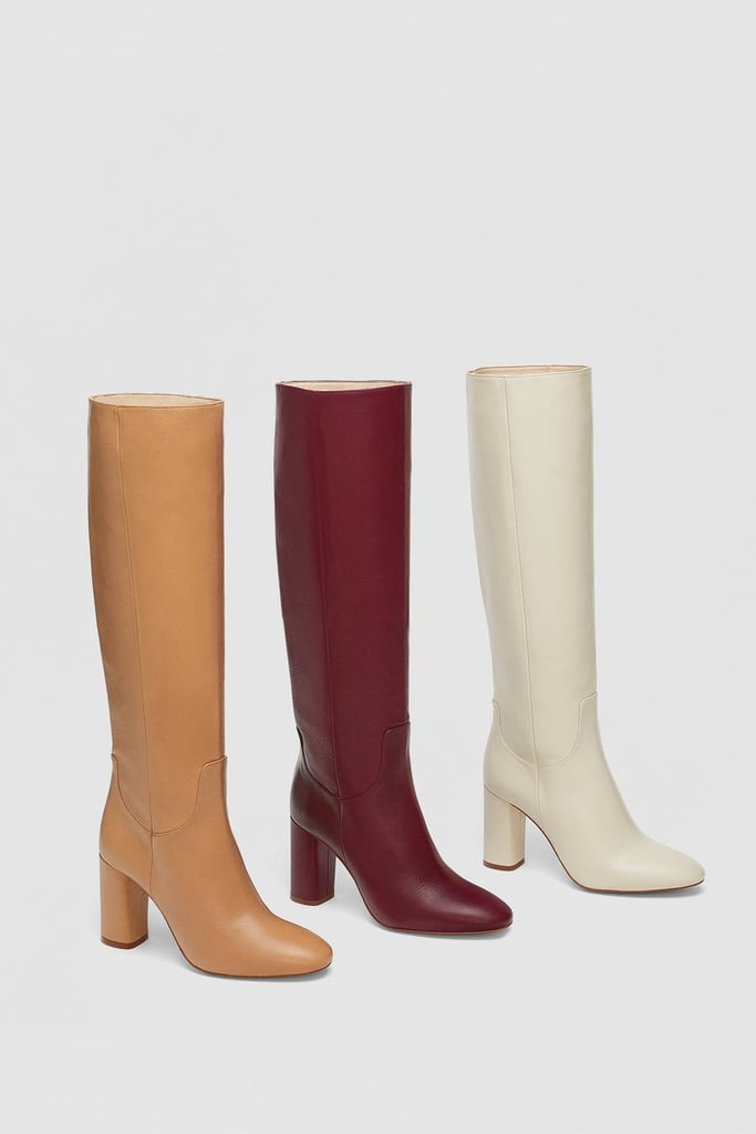 bf2e2b7b32bfc Zara High Heeled Leather Boot