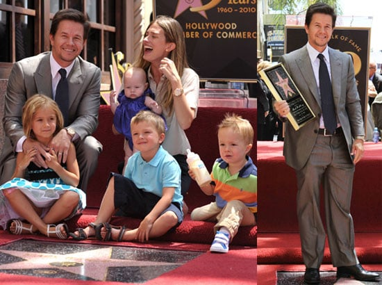 Pictures of Mark Wahlberg With Family at Hollywood Walk of Fame