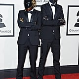 Daft Punk at the 2014 Grammy Awards.