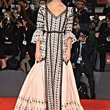 Alicia hit the red carpet in a Louis Vuitton gown for The Danish Girl premiere at the 72nd Venice Film Festival in September.