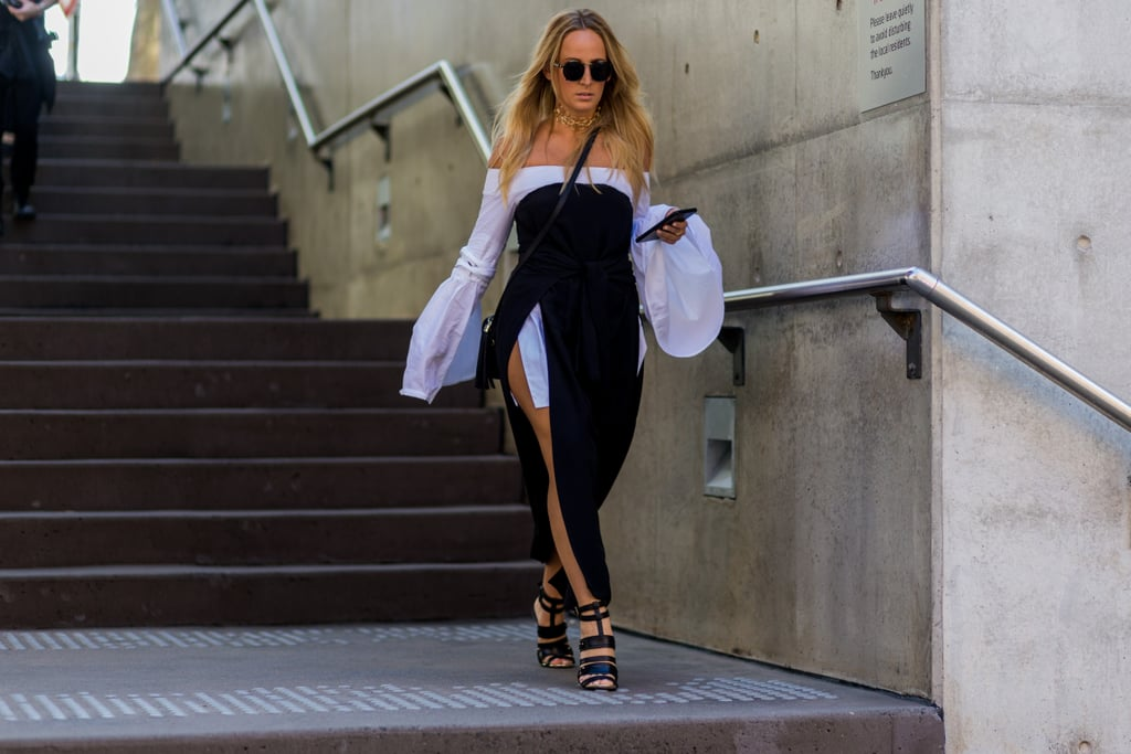 Tame a Sexy Dress With a Shirt Layered Right Underneath