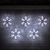 Cool White LED Snowflake Hanging Christmas Lights