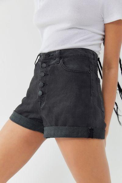 Bdg Denim High-Rise Mom Shorts