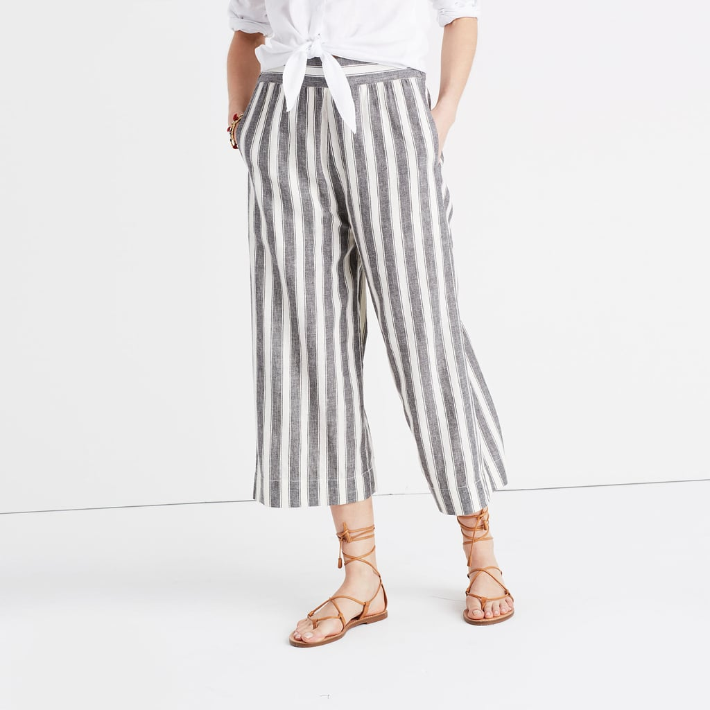 It's all about the stripes on Madewell's huston pull-on crop pants ($70).