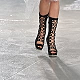Rodarte delivered the ultimate in edgy lace-ups.