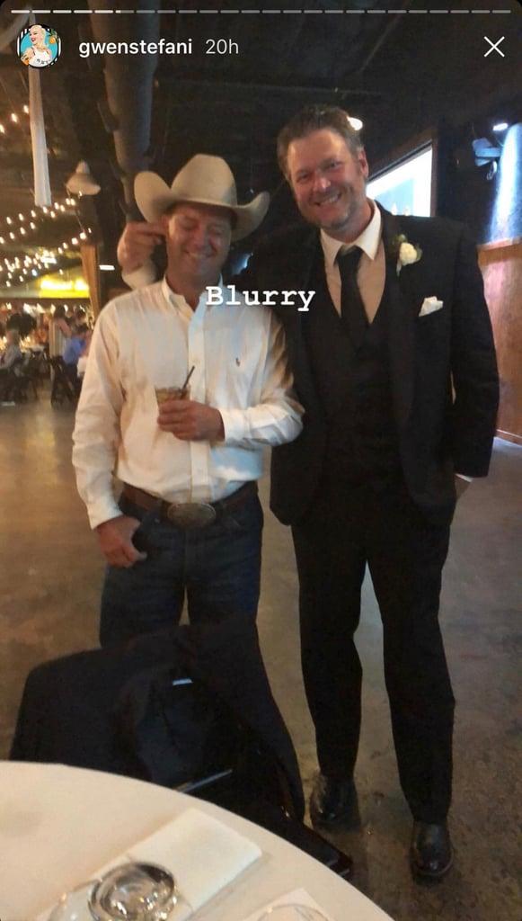 Gwen Stefani and Blake Shelton Attend a Wedding June 2018