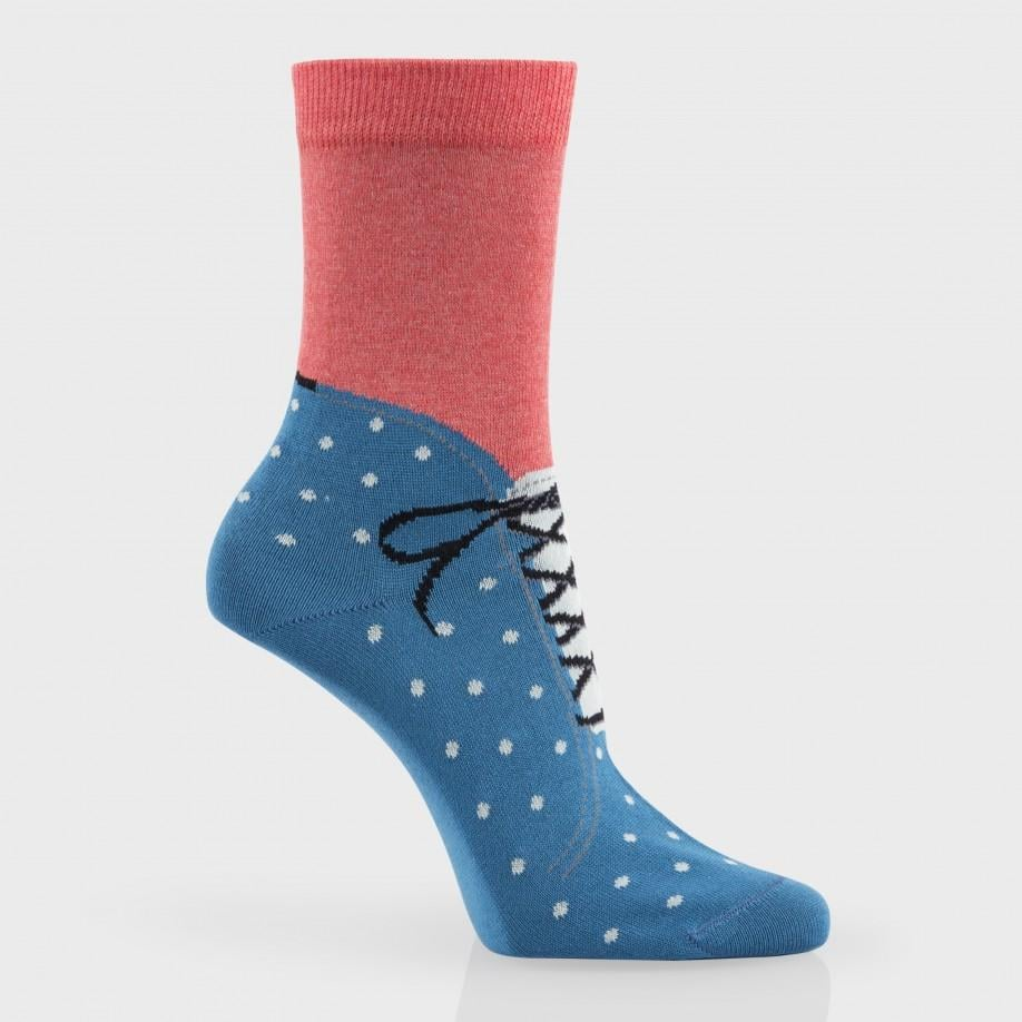 It can be nice to lounge inside all day and never put on a pair of shoes, but this pair of socks from Paul Smith ($35) will at least make you feel like you got laced up in the morning.